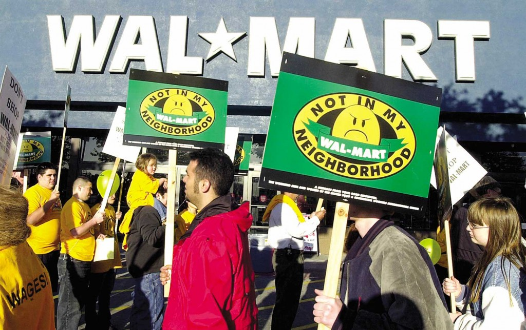 anti Wal-mart protest