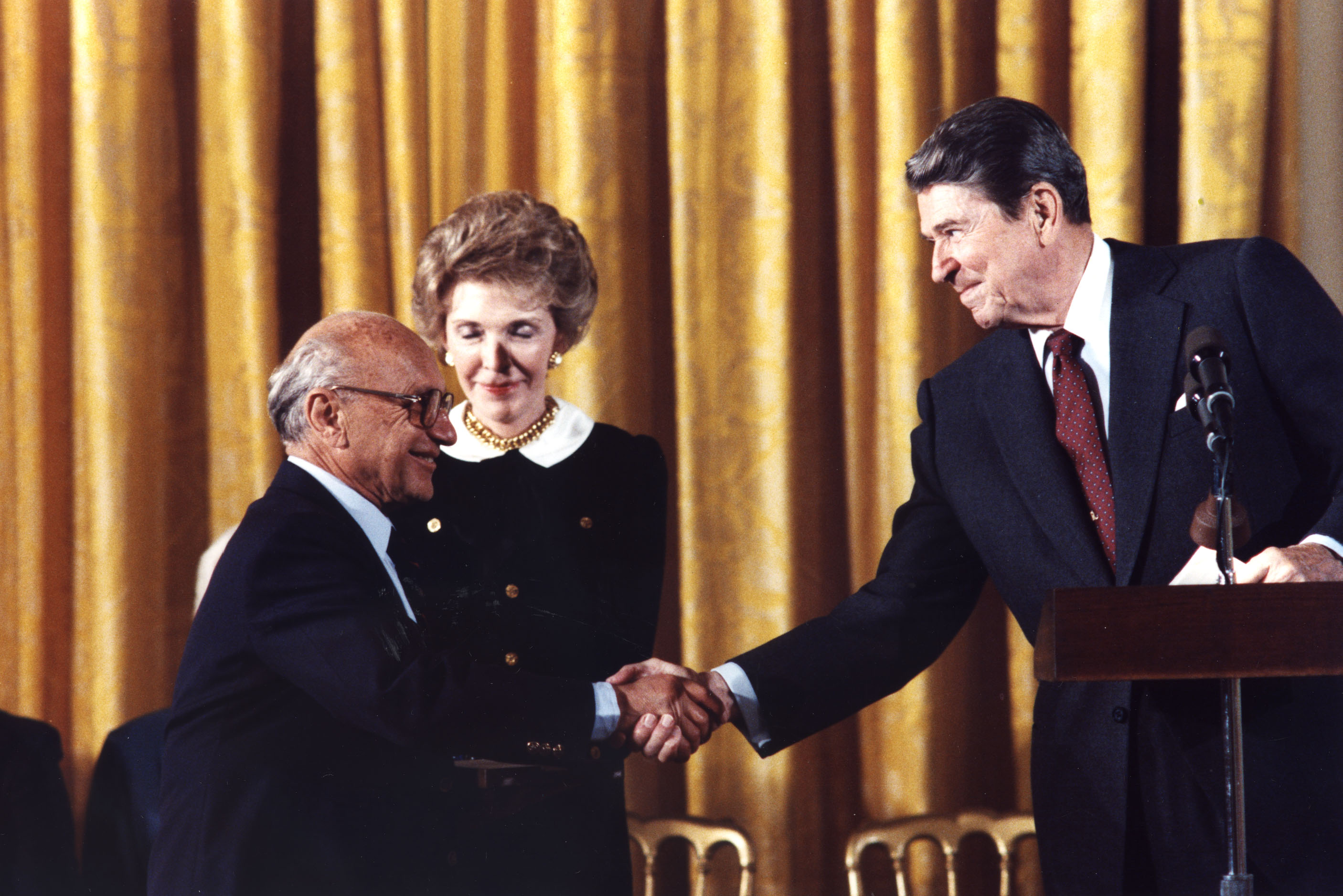 Milton Friedman, Ronald Reagan, Nancy Reagan